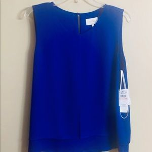 Royal blue sleeveless blouse by Laundry, Sz 10 NWT